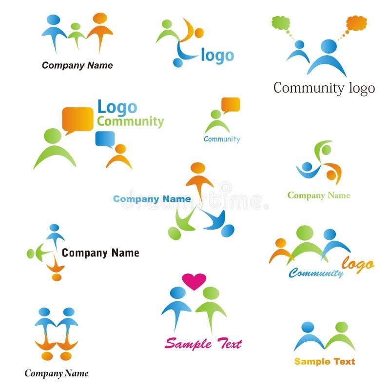 установленные логосы общины стоковые фото