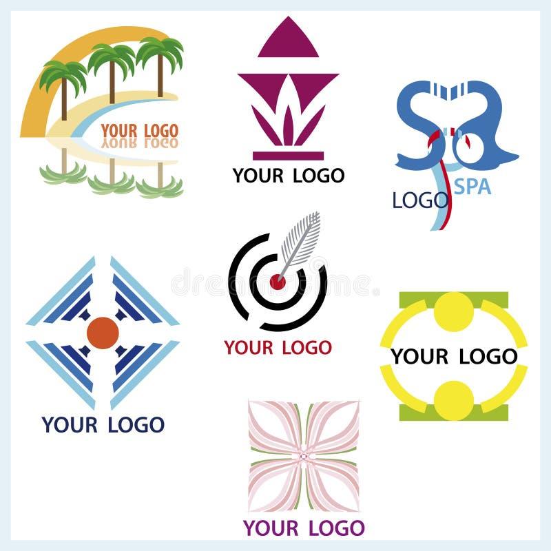 установленные логосы иллюстрация вектора