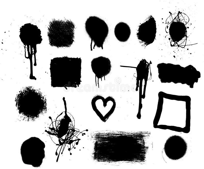 установленные метки 1 grunge иллюстрация штока