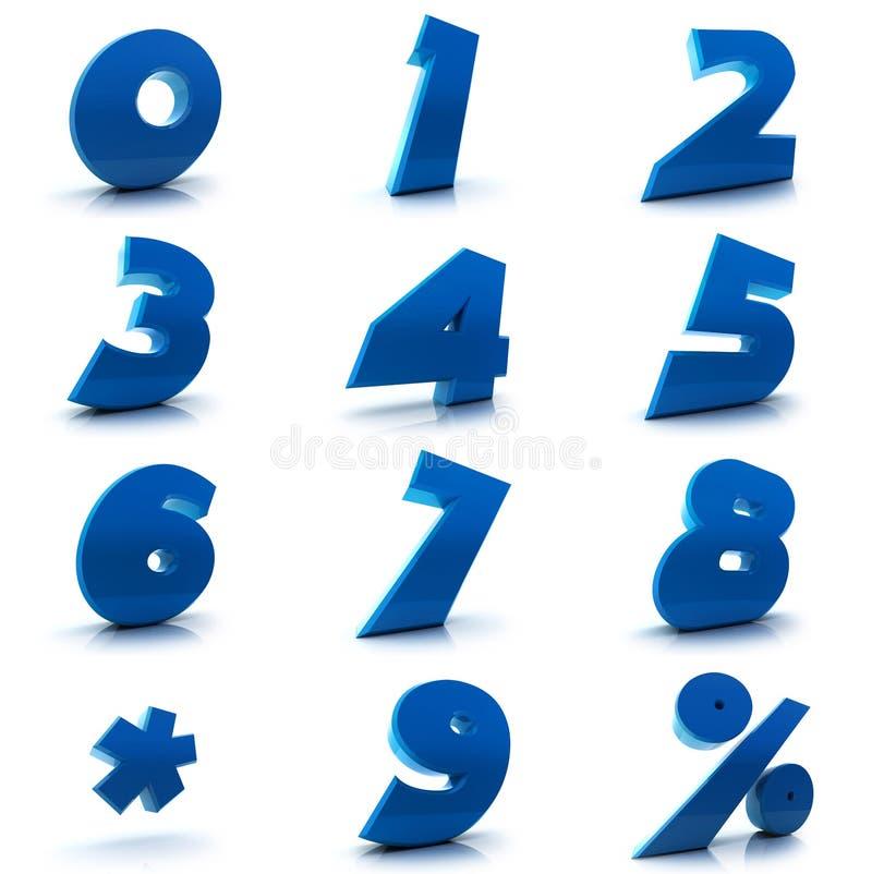 установленные номера иллюстрация вектора