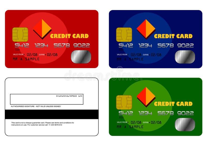 установленные образцы 1 кредита карточки стоковая фотография