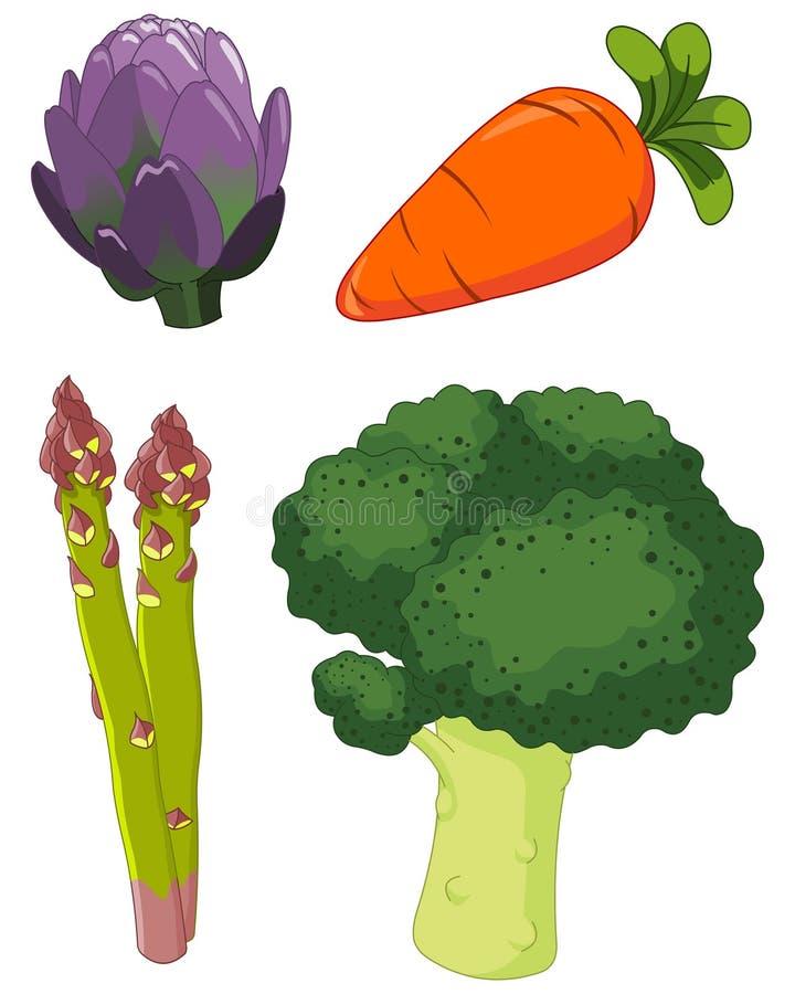 установленные овощи 1 иллюстрация вектора