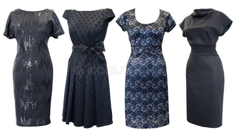 установленные платья черноты стоковые изображения