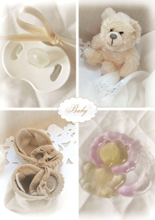 установленные предметы младенца стоковая фотография rf