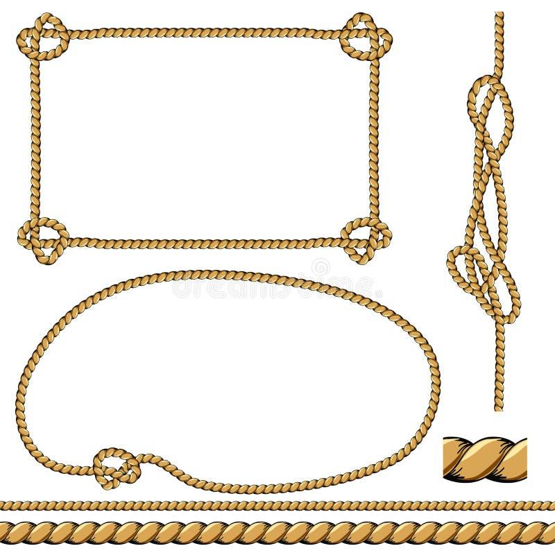 Установленные рамки веревочки бесплатная иллюстрация