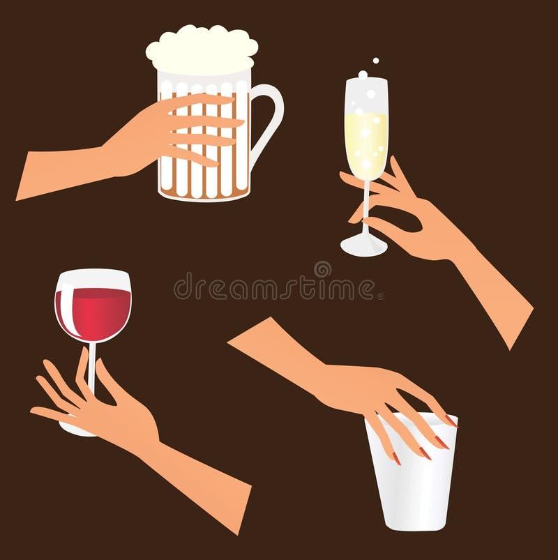 установленные руки пить бесплатная иллюстрация