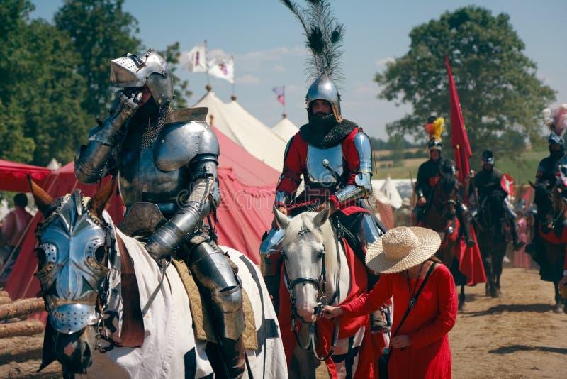 установленные рыцари стоковая фотография rf
