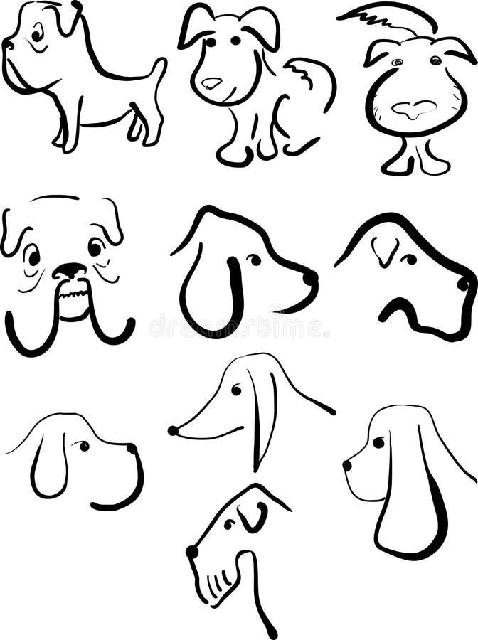 установленные собаки иллюстрация штока