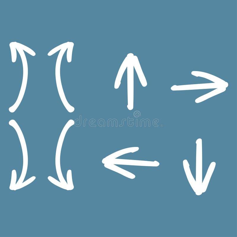 установленные стрелки Набор современной руки вычерченный с черными установленными стрелками для дизайна предпосылки сети бесплатная иллюстрация