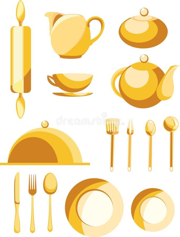 установленные тарелки бесплатная иллюстрация
