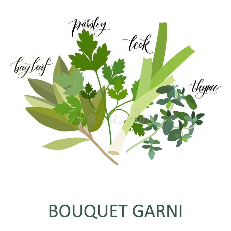 Установленные травы Garni букета бесплатная иллюстрация