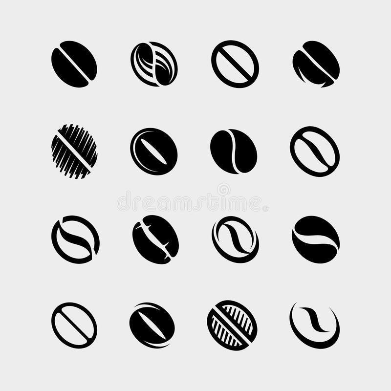 Установленные фасоли собрания кофе вектор иллюстрация вектора