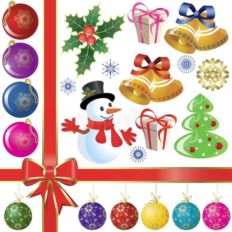 Download установленные cristmas иллюстрация вектора. иллюстрации насчитывающей орнамент - 6854190