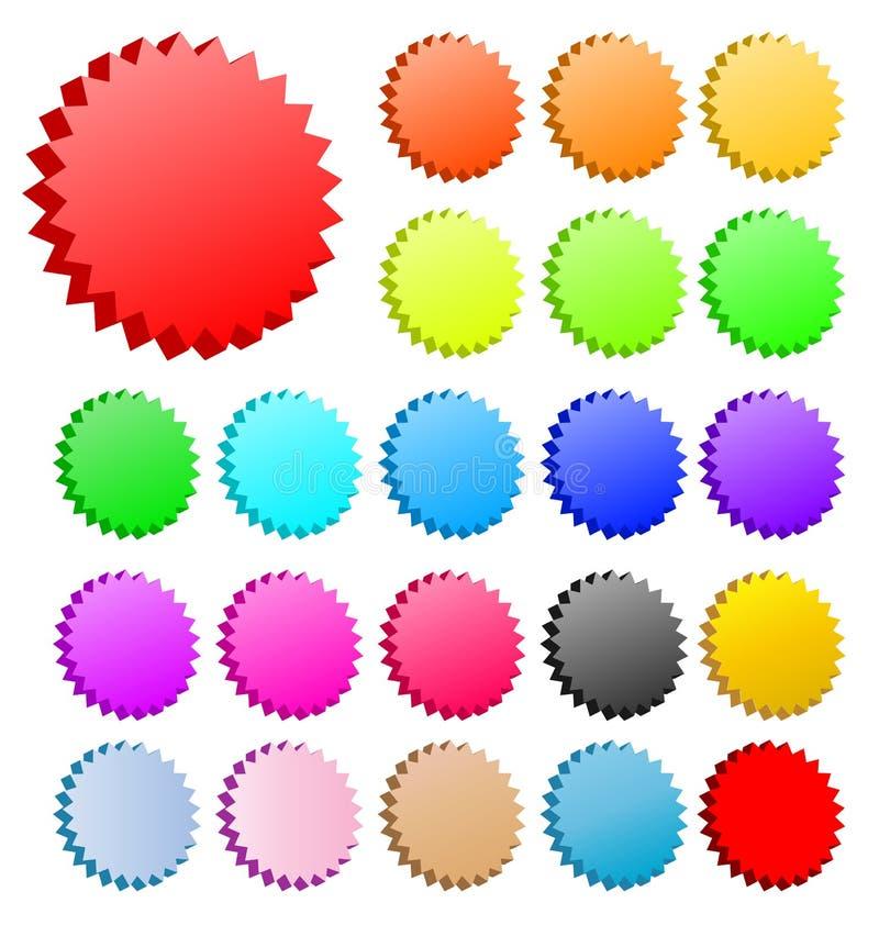 установленный вектор звезд 3d бесплатная иллюстрация