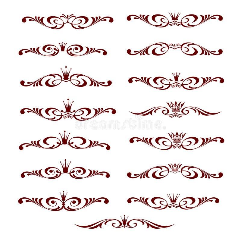 Установленный декоративный элемент с кроной Белизна Брайна бесплатная иллюстрация