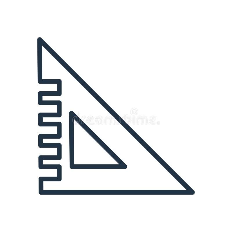 Установленный квадратный вектор значка изолированный на белой предпосылке, установленном квадратном знаке иллюстрация штока