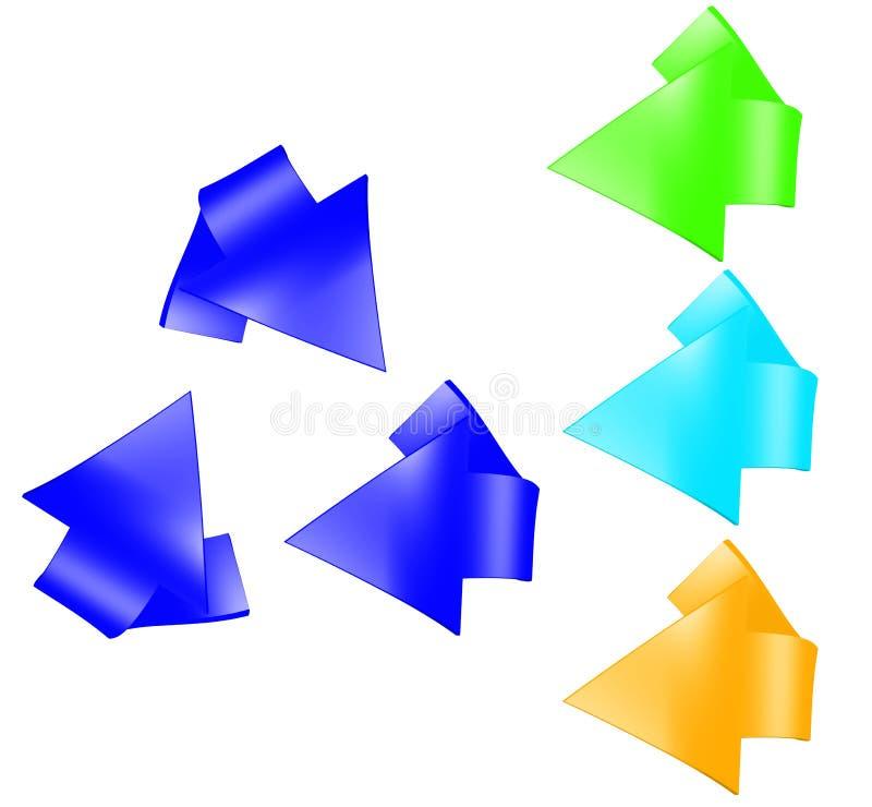 Установленный рециркулируя символ бесплатная иллюстрация
