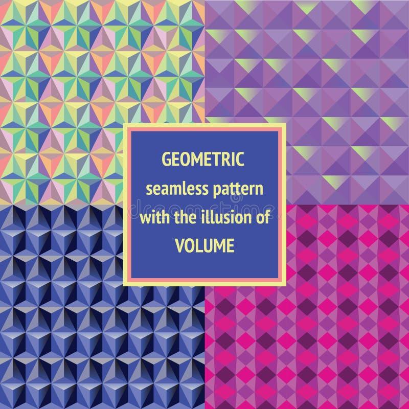 Установленная геометрическая безшовная текстура бесплатная иллюстрация