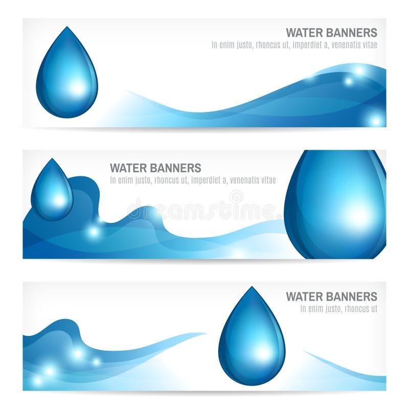 установленная знаменами вода выплеска иллюстрация вектора