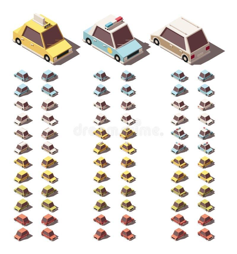 Установленные автомобили вектора равновеликие бесплатная иллюстрация