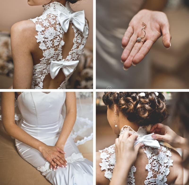 Установленные аксессуары свадьбы стоковое фото