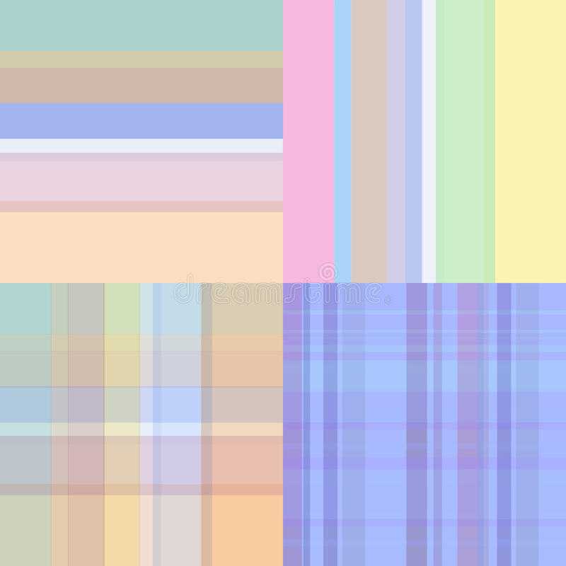 Установленные безшовные картины иллюстрация вектора