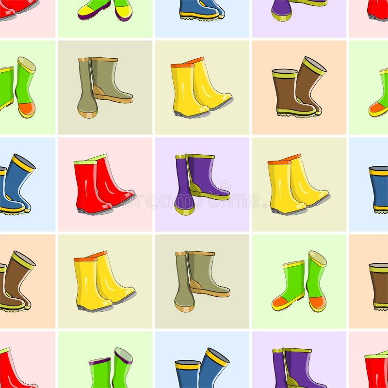Установленные ботинки осени иллюстрация вектора