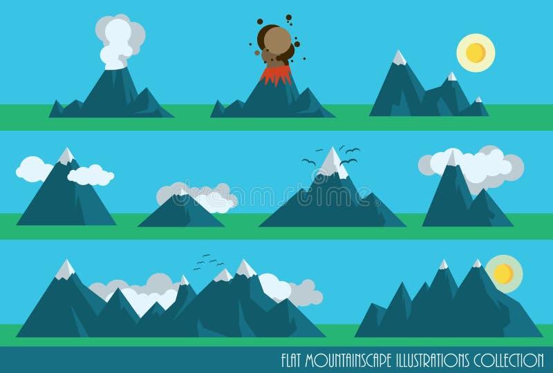 Установленные горы иллюстрация штока