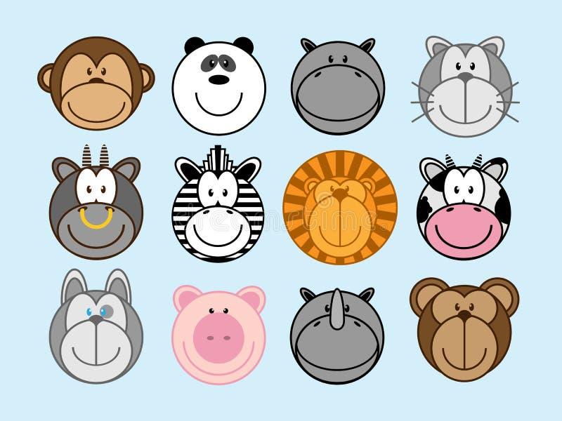 Установленные животные иллюстрация штока