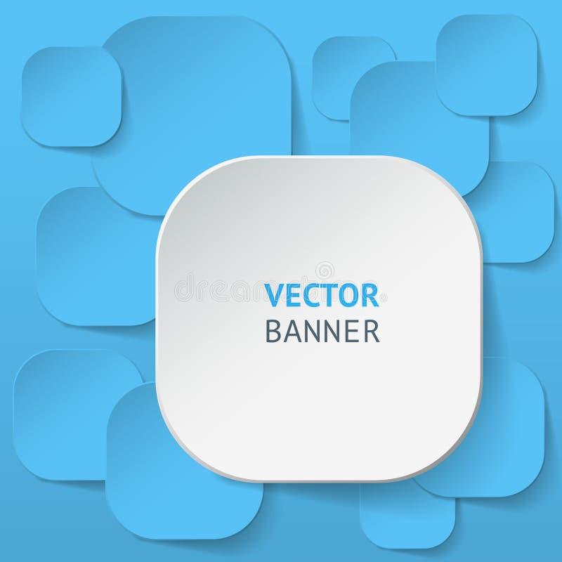 Установленные знамена origami вектора infographic иллюстрация вектора