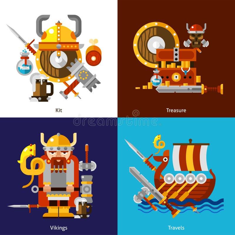 Установленные значки армии Викинга бесплатная иллюстрация