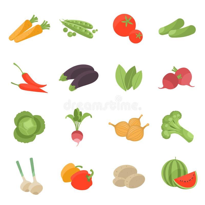 Установленные значки вектора вектора вегетарианские бесплатная иллюстрация