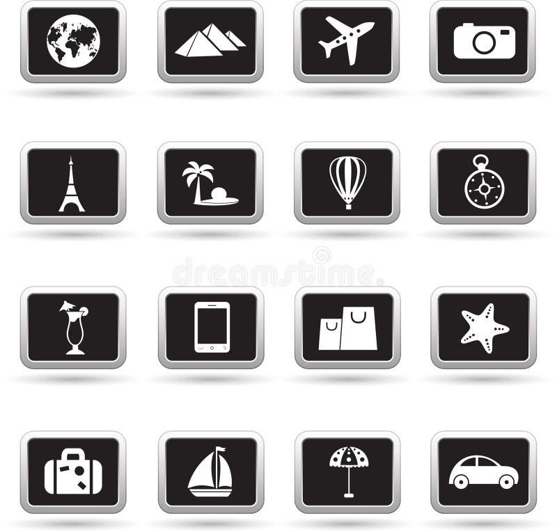 Установленные значки, вектор перемещения бесплатная иллюстрация