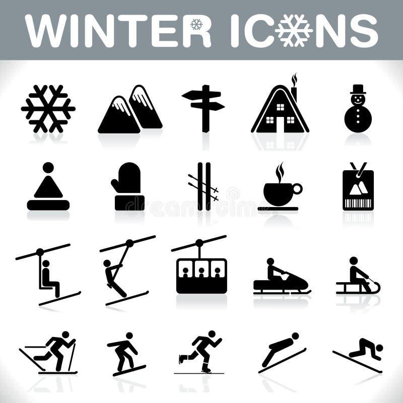 Установленные значки зимы - ВЕКТОР бесплатная иллюстрация