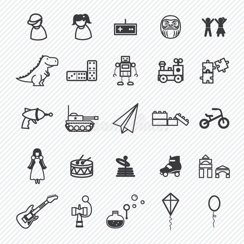 Установленные значки игрушки иллюстрация бесплатная иллюстрация