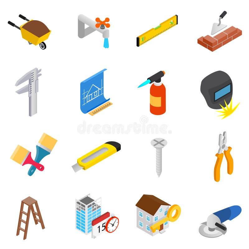Установленные значки инструментов деятельности ремонта и конструкции бесплатная иллюстрация