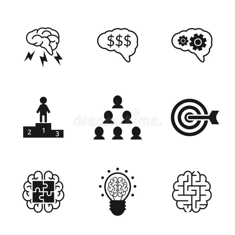 Установленные значки идеи Стратегия бизнеса и управление бесплатная иллюстрация