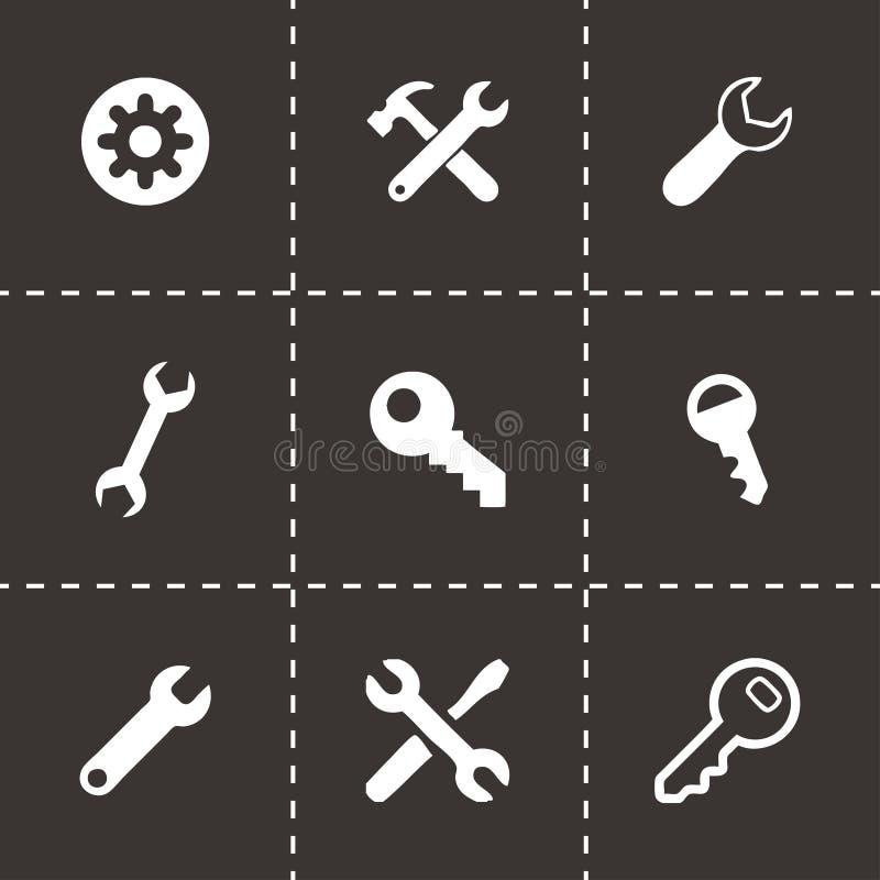 Установленные значки ключа установок вектора бесплатная иллюстрация