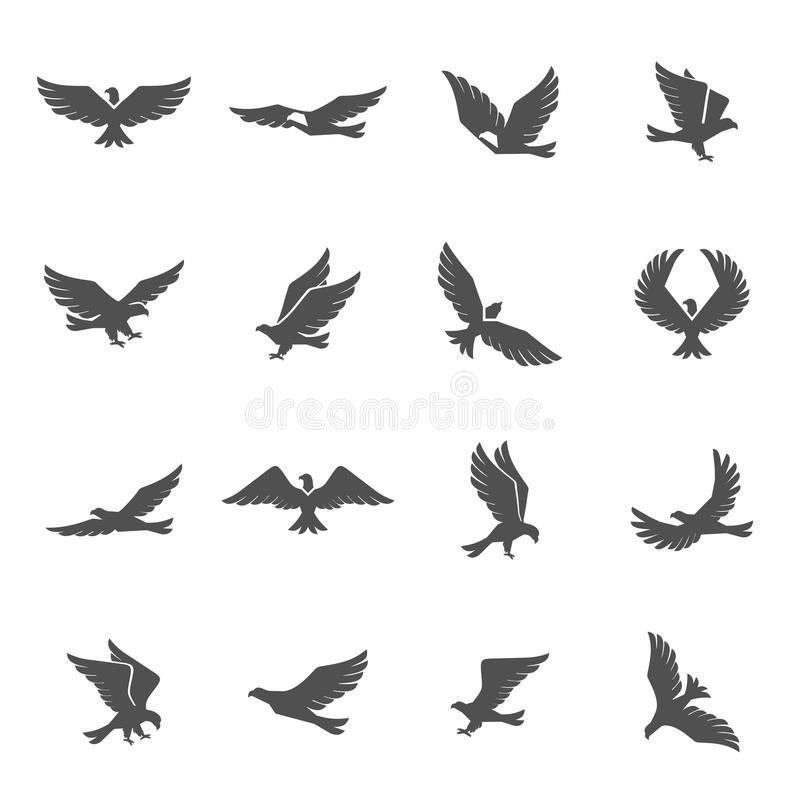 Установленные значки орла бесплатная иллюстрация