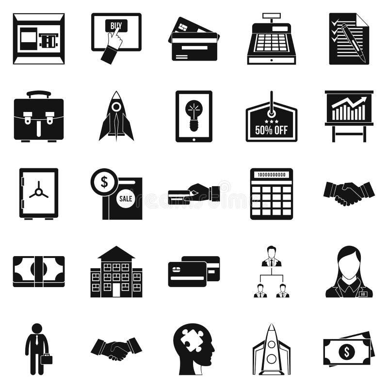 Установленные значки, простой стиль развития SEO иллюстрация штока