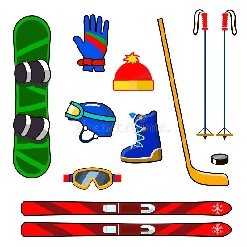 Зимний спортивный инвентарь картинки