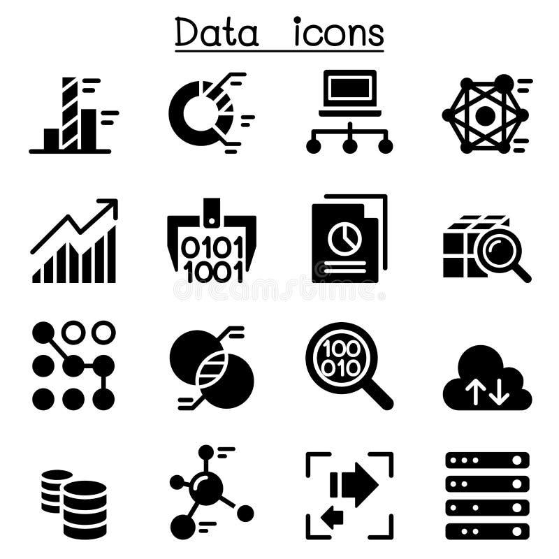 Установленные значки технологии данных бесплатная иллюстрация