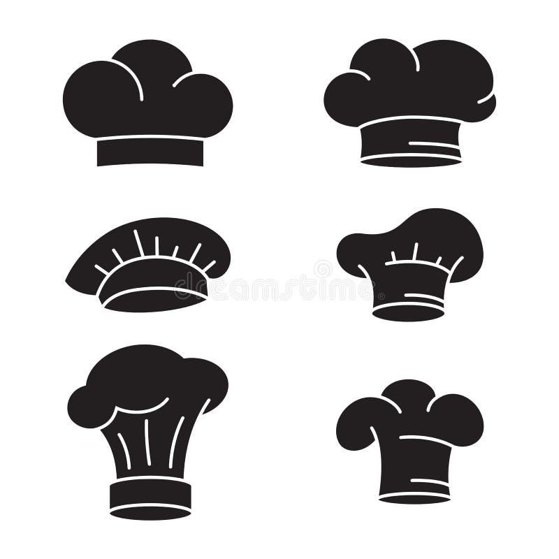 Установленные значки шляпы шеф-повара бесплатная иллюстрация
