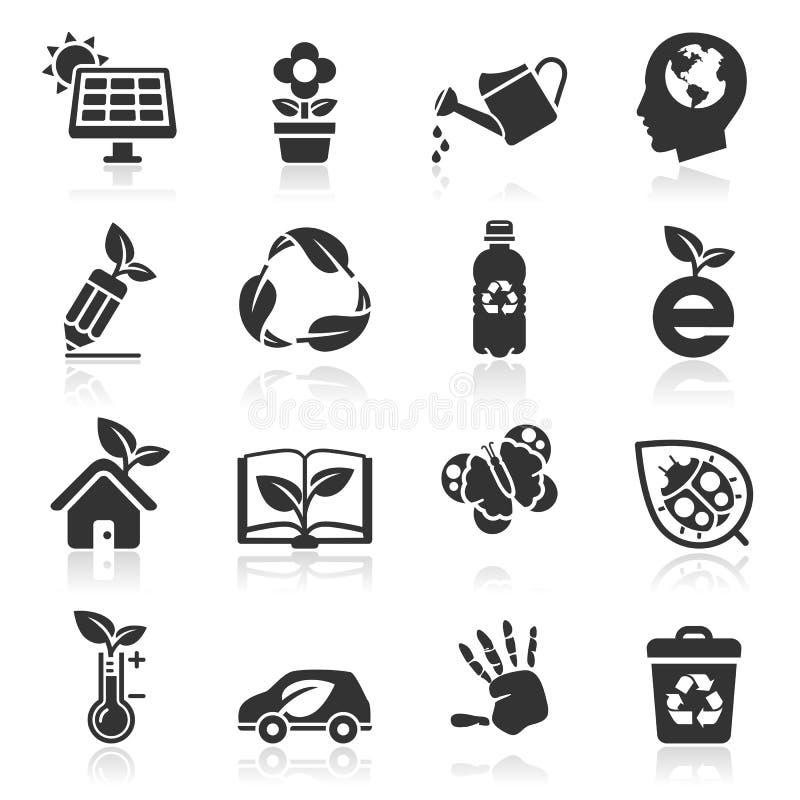 Установленные значки экологичности. бесплатная иллюстрация