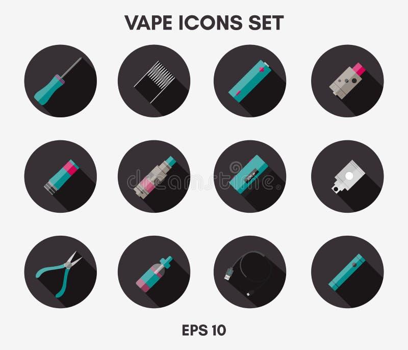 Установленные значки Vape бесплатная иллюстрация