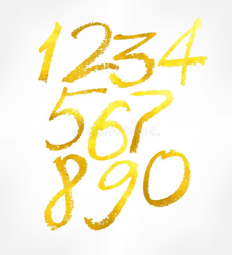 Установленные золотые числа бесплатная иллюстрация