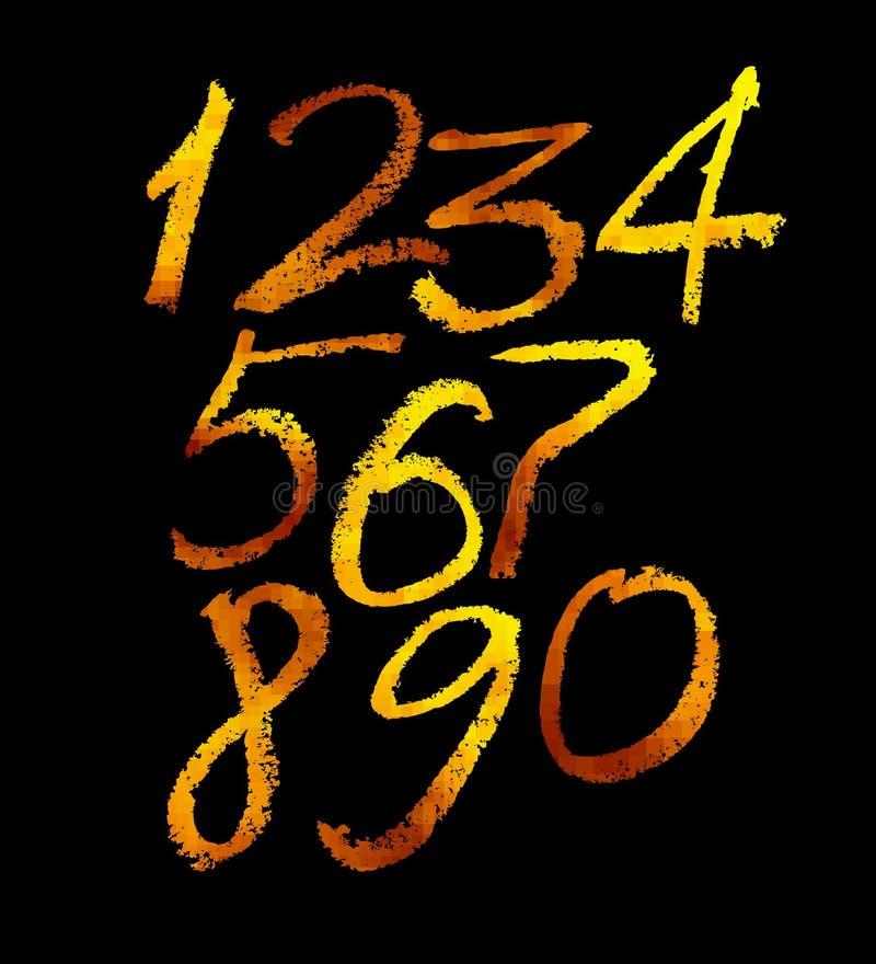 Установленные золотые числа иллюстрация штока