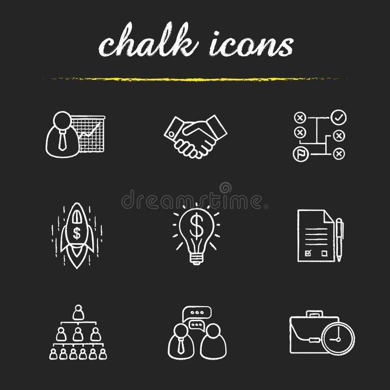 установленные иконы дела иллюстрация штока