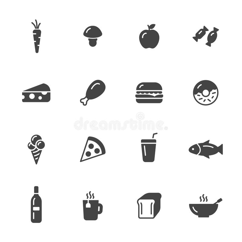 установленные иконы еды бесплатная иллюстрация