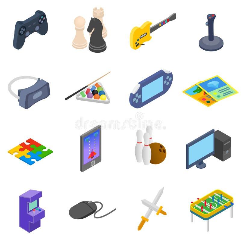 Установленные иконы игр иллюстрация штока